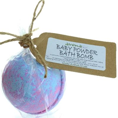 Baby Powder Large Bath Bomb in Gift Wrap